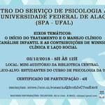 I Encontro do Serviço de Psicologia Aplicada da Universidade Federal de Alagoas