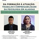 Trabalho e empregabilidade dos(as) psicólogos(as) em Alagoas será tema de evento no SPA